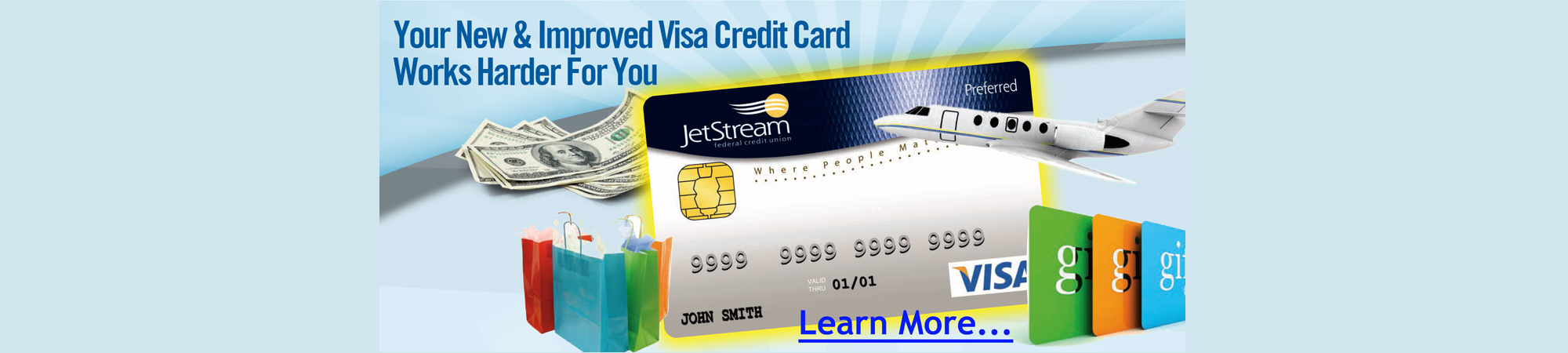 Your new and improved Visa card works hard for you.